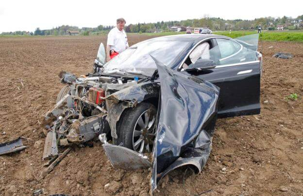 Tesla Motors Inc (TSLA) Model S Crash