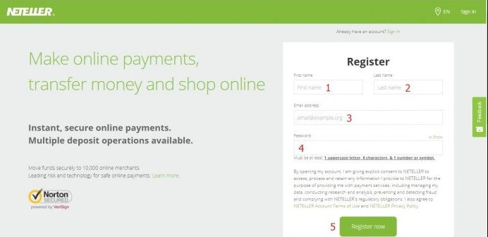 Open a Neteller South Africa Account